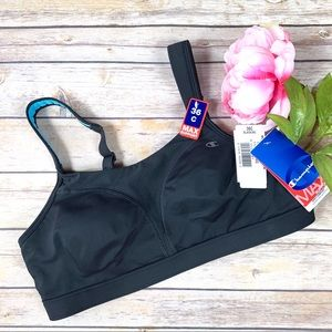 Champion MAX Support Black & Teal Sports Bra NWT